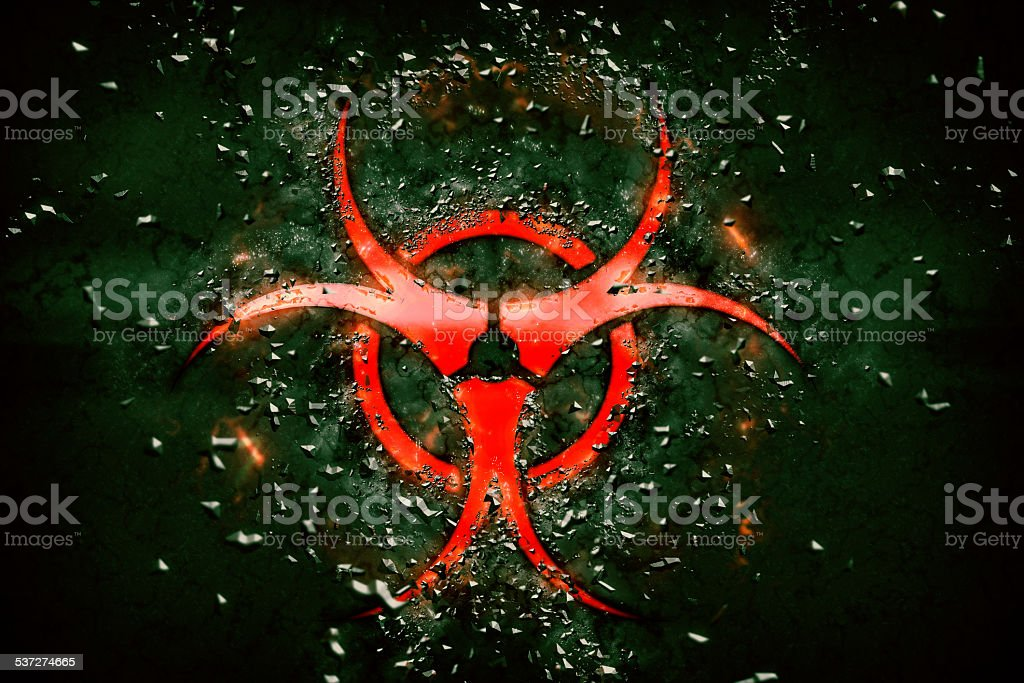 Biological hazard sign stock photo