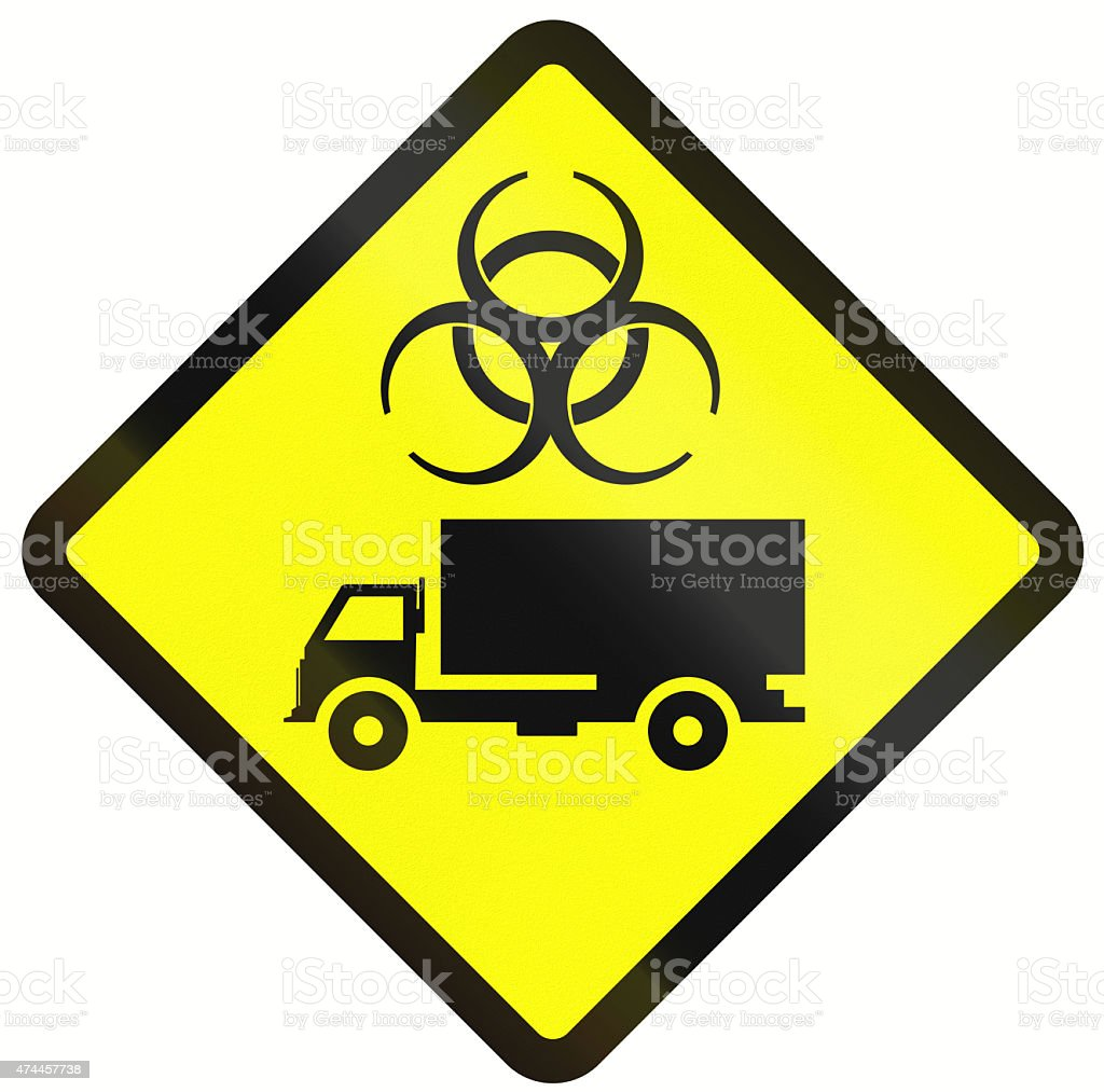 Biological Hazard Warning Sign In Indonesia Stock Photo Download