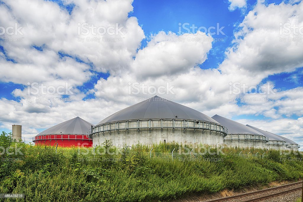 Biomass energy plant  Energiewende Biogas stock photo