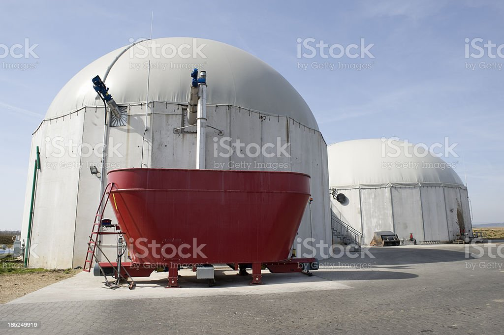 Biomass energy plant, Germany. royalty-free stock photo