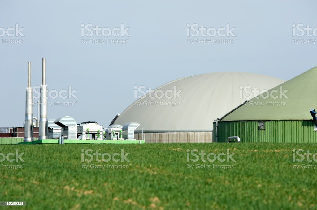 Biomass energy plant, Germany. stock photo