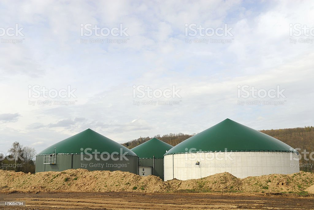 Biomass storage royalty-free stock photo