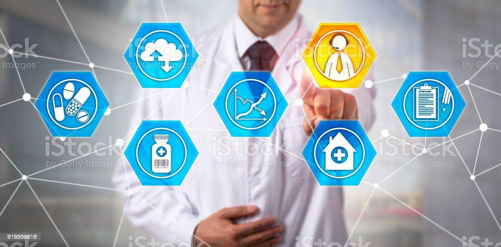 Biomedical Engineer Using Web-Based Response stock photo