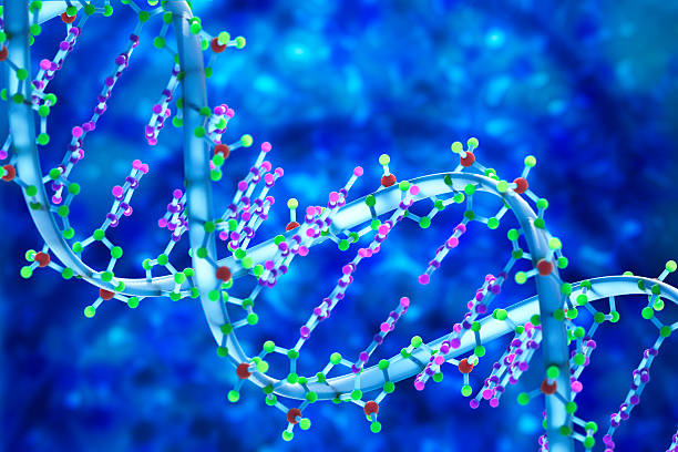 DNA 3D Biomedical Illustration stock photo