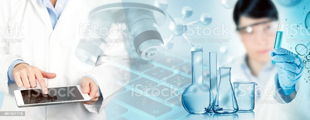 biomedical research concept stock photo