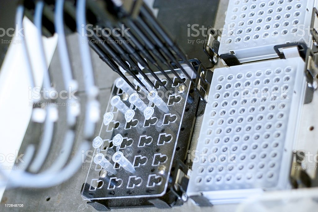 Biomedical robot royalty-free stock photo