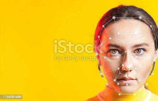 istock Biometric face detection 1139091689