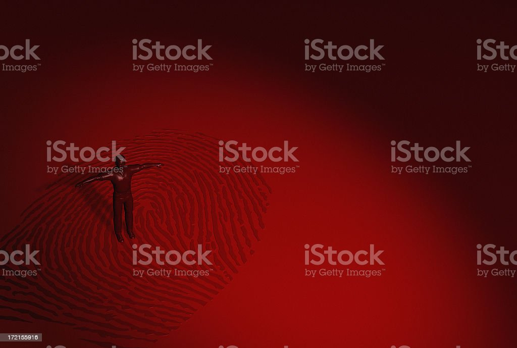 Biometric fingerprint royalty-free stock photo