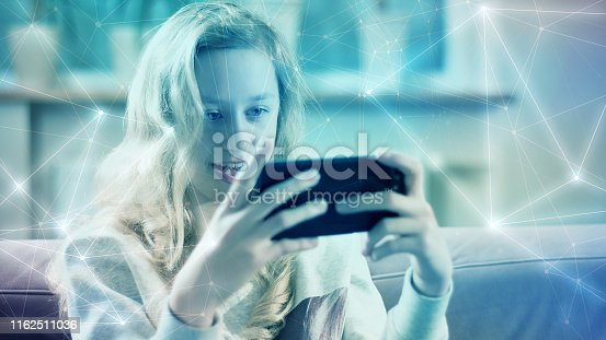 851960142 istock photo Biometric identification human face scan process creative concept 1162511036