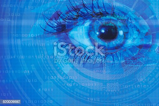 510584002istockphoto biometric screening eye and circuit binary internet concept 520009592
