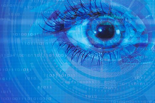510584002 istock photo biometric screening eye and circuit binary internet concept 520009592