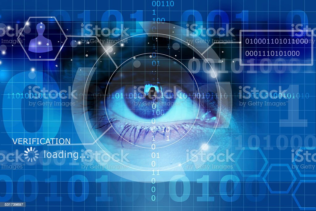 biometric screening eye stock photo