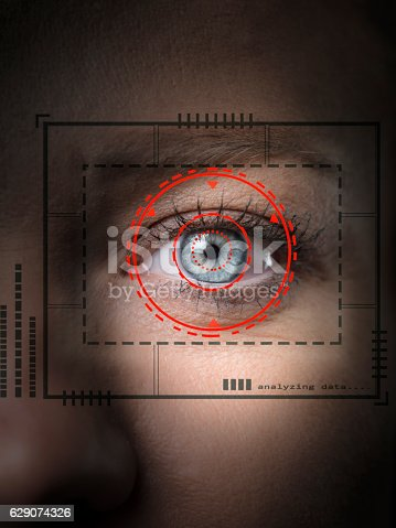 510584002istockphoto Biometric security scan 629074326
