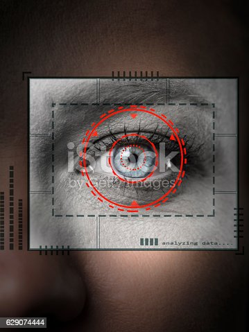 510584002istockphoto Biometric security scan 629074444
