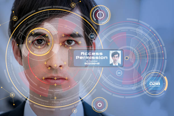 Biometrics concept. Facial Recognition System. Iris recognition. Biometrics concept. Facial Recognition System. Iris recognition. counter terrorism stock pictures, royalty-free photos & images