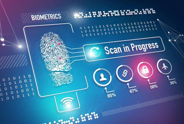 Biometrics Fingerprint Scan stock photo