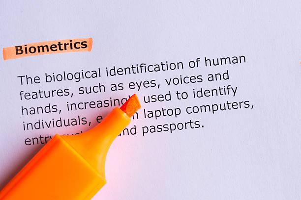 biometrics stock photo