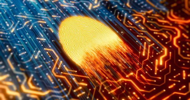 Biometrische Technologie Hintergründe – Foto