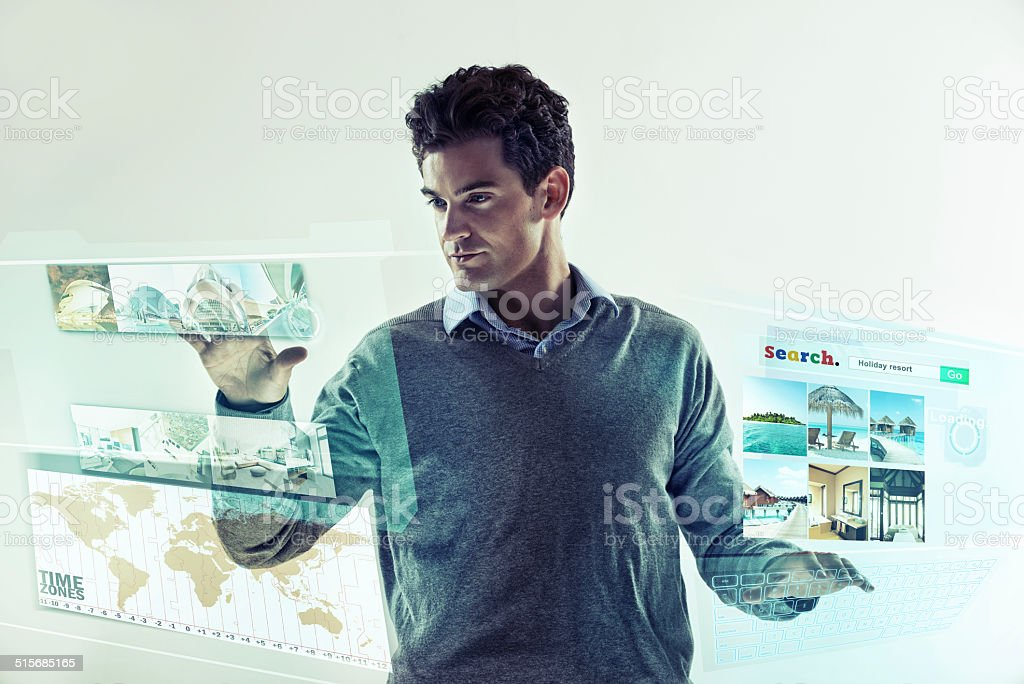 Bionic arms not required stock photo