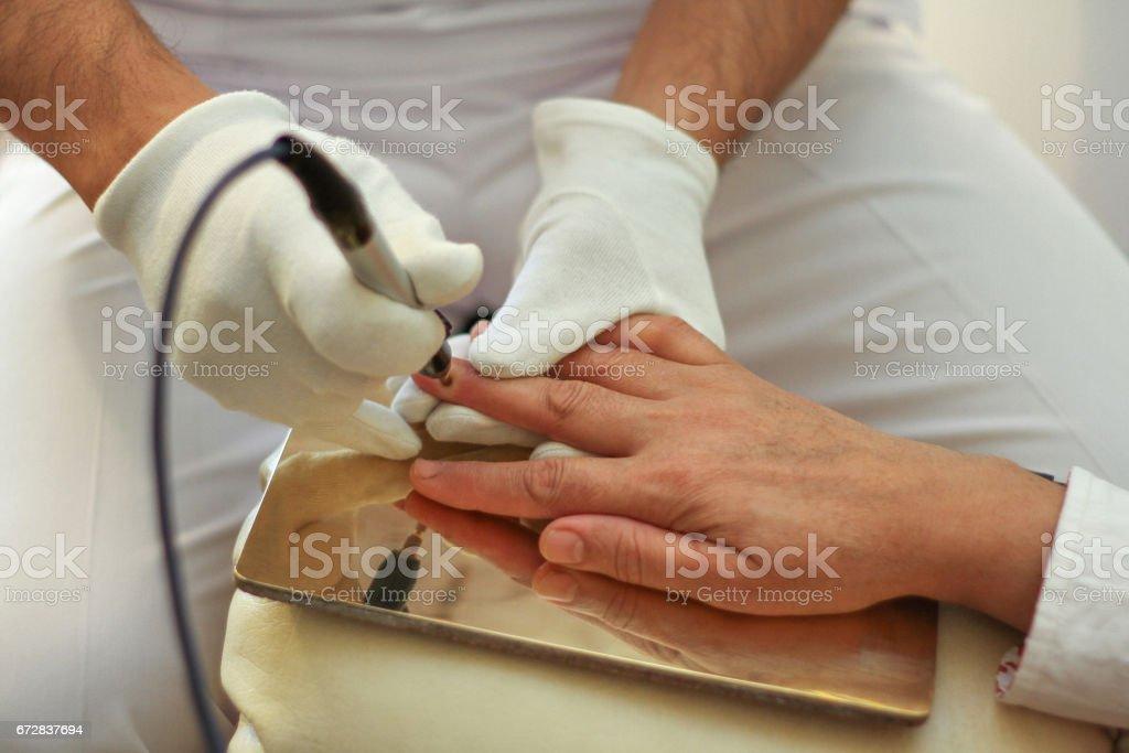 Bioresonance treatment. stock photo