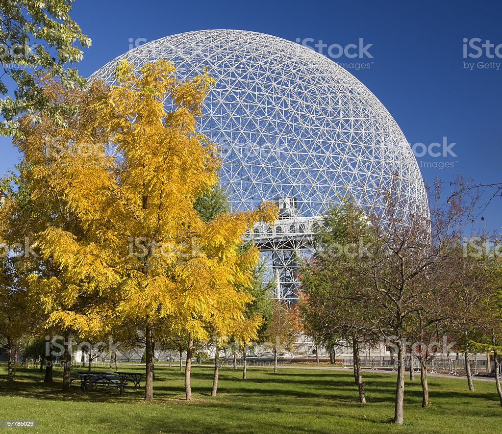 Biosphere in fall, Montreal stock photo