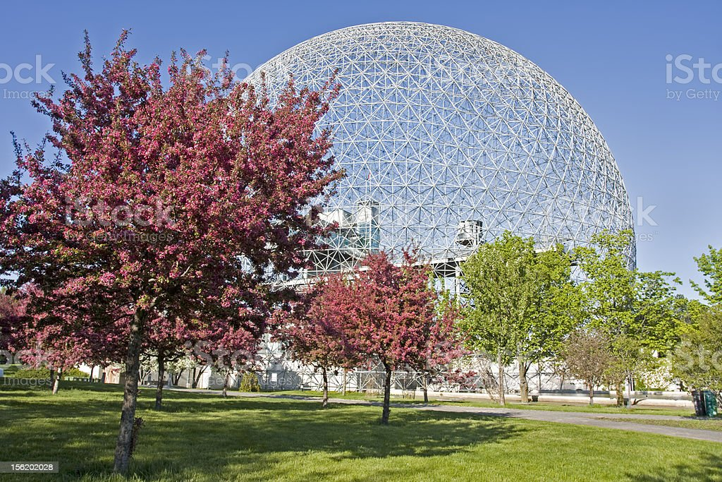 Biosphere of Montreal in spring stock photo