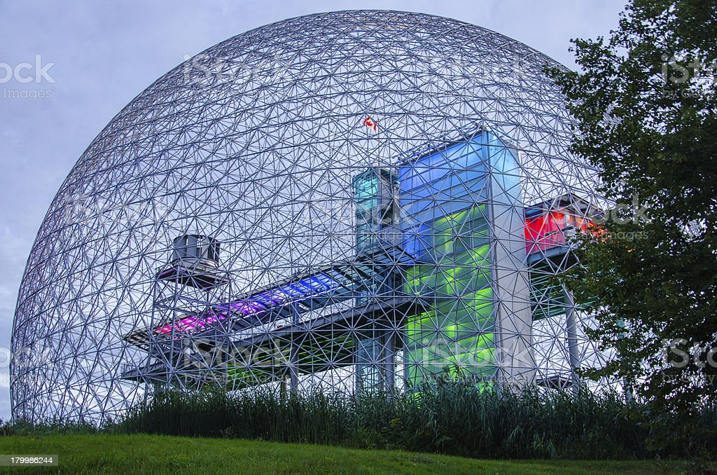 Biosphere Structure, Montreal, Quebec, Canada, Museum, The Future stock photo