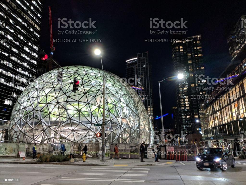 Biospheres Dome at Amazon.com Headquarters stock photo