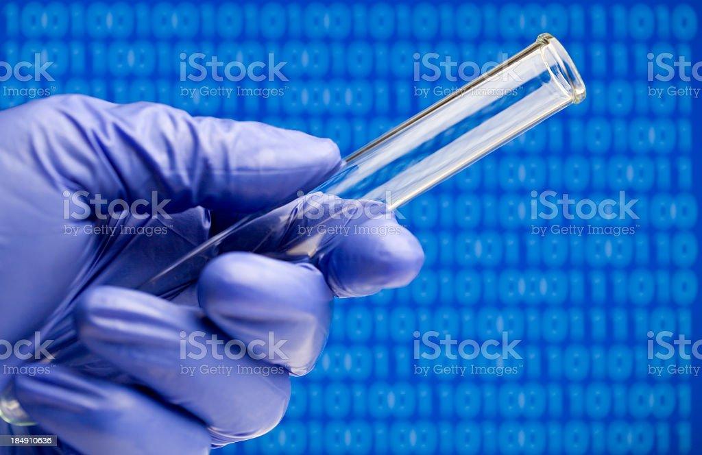Biotech Binary Code royalty-free stock photo