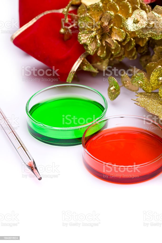 Biotech Christmas Card royalty-free stock photo