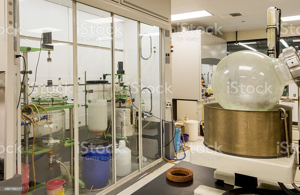 Biotech Lab with Fume Hood stock photo