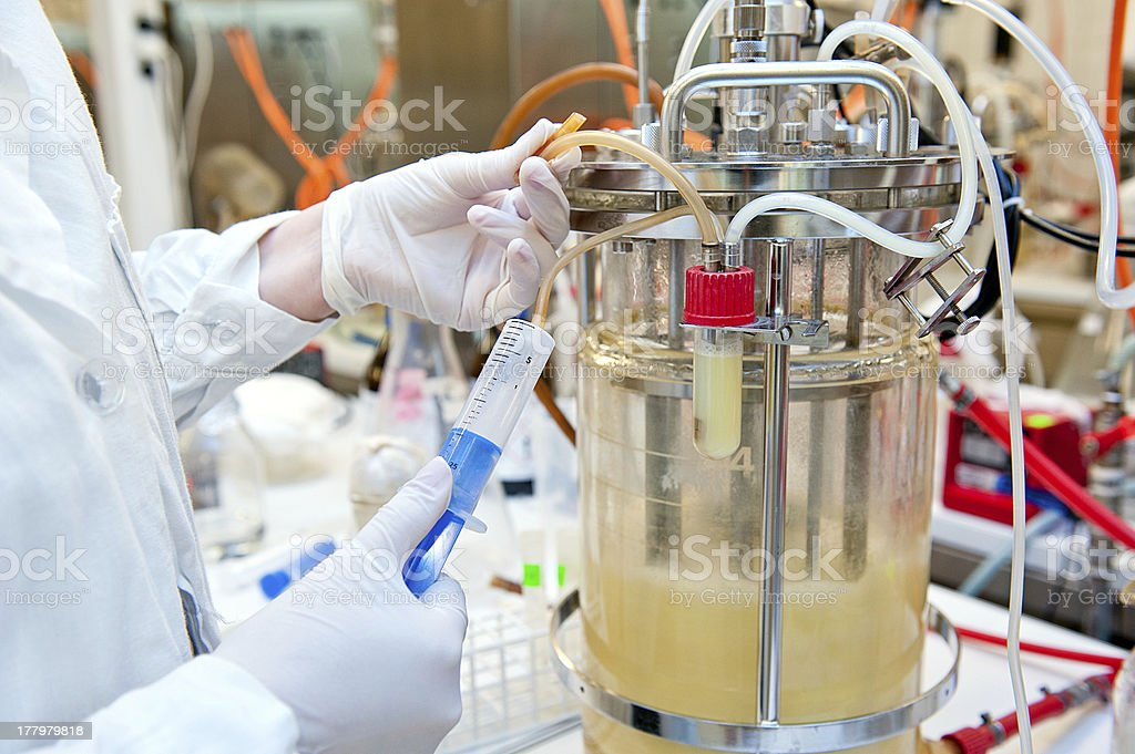 biotechnological laboratory stock photo