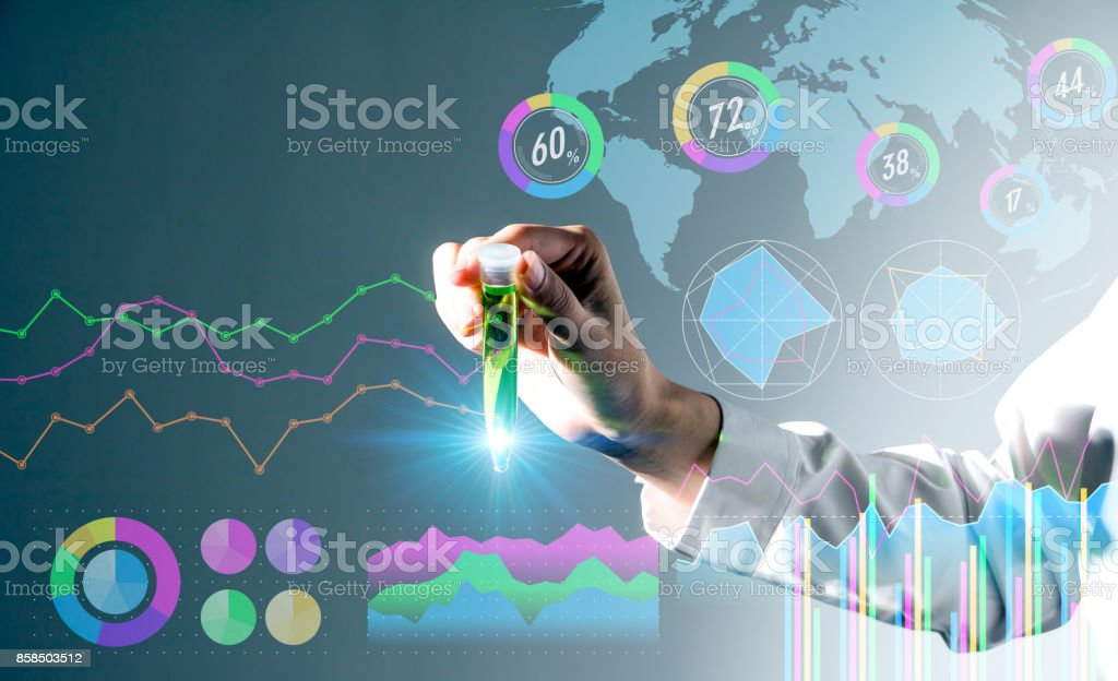 biotechnology concept. stock photo