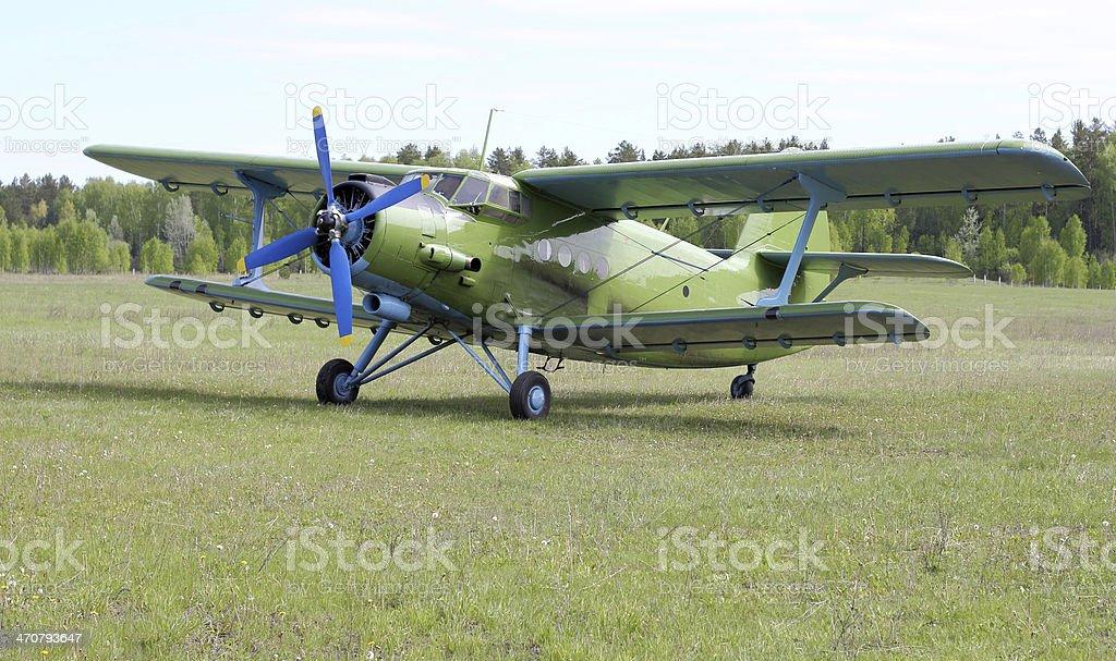 Biplane An-2 stock photo