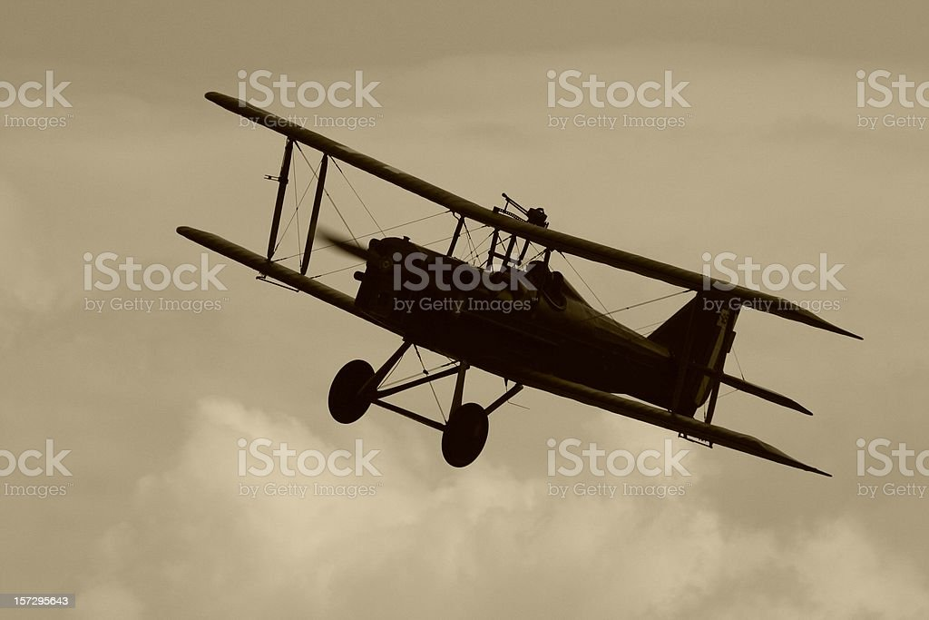 WWI Biplane. stock photo