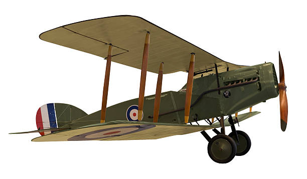 WWI biplane stock photo