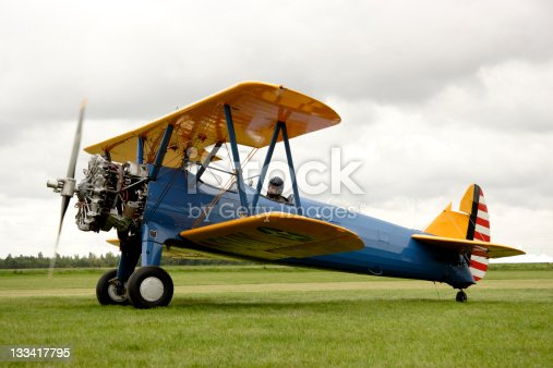 Beautiful restored Boeing Stearman biplane with 15 Liter Starengine.