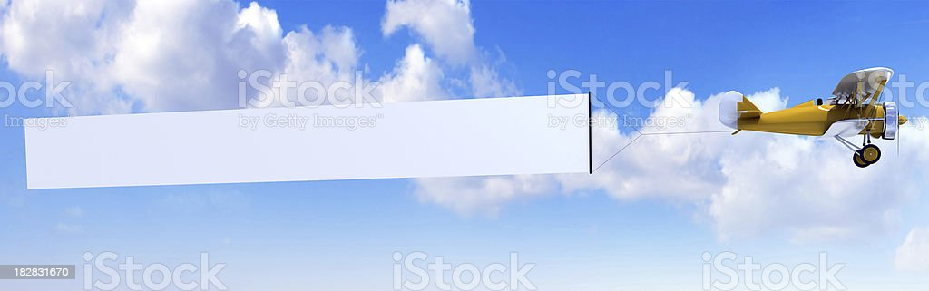 Biplan avec bannière - Photo