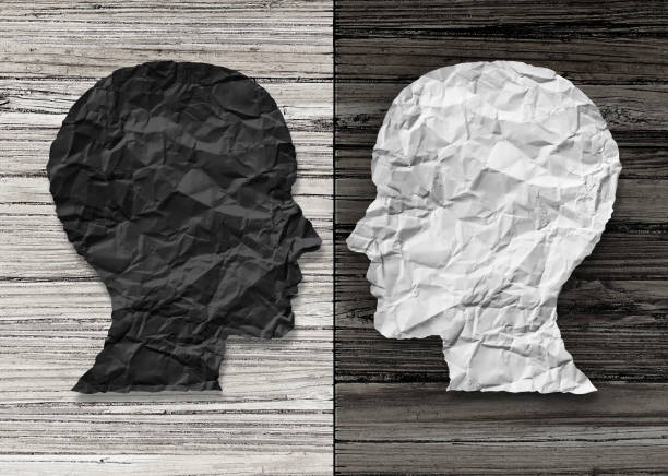 bipolar mental health - contrasts stock pictures, royalty-free photos & images