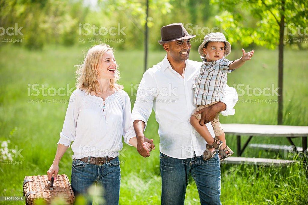 Bi-racial Family royalty-free stock photo