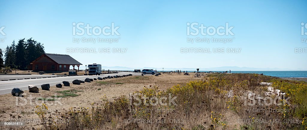Birch Bay State Park Beach Coastline stock photo