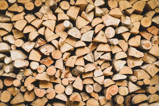 birch firewood background