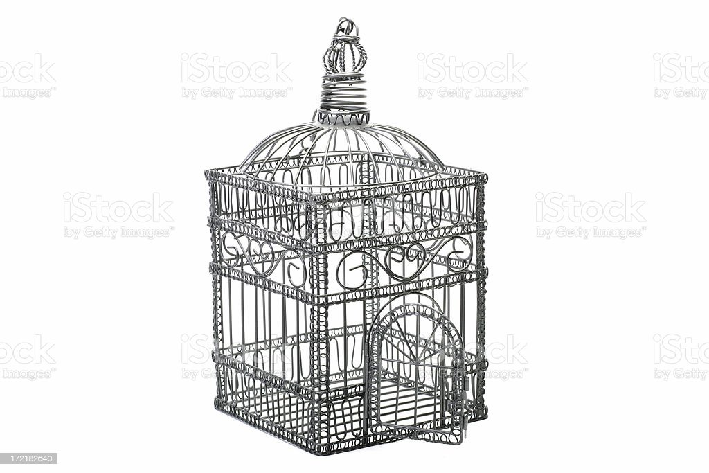 Bird Cage (Isolated) royalty-free stock photo