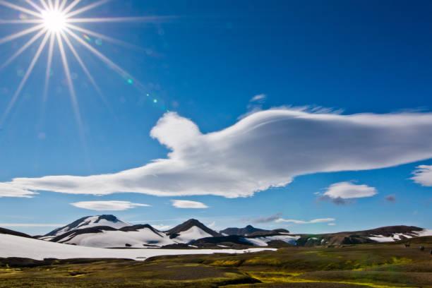 Bird Cloud over iceland stock photo