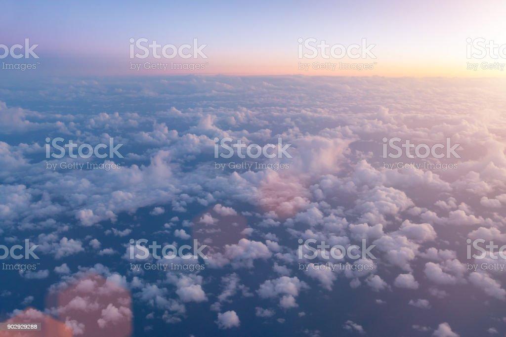 Bird eye view of upper cloud´s layer - foto stock
