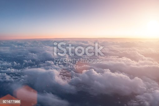 istock Bird eye view of upper cloud´s layer 921677986