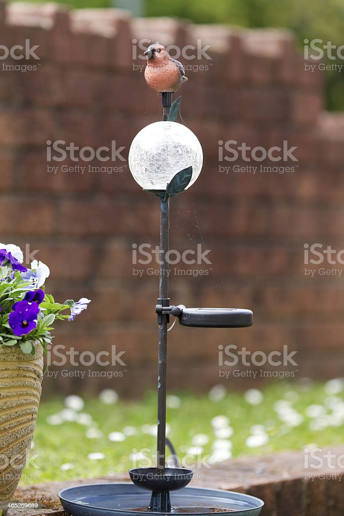 Bird Feeder with a Flower Pot stock photo