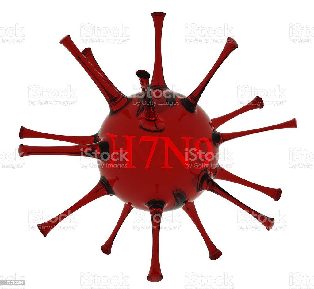 Bird Flu H7N9 virus concept stock photo
