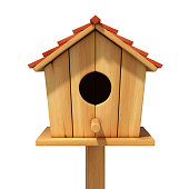 bird house 3d illustration
