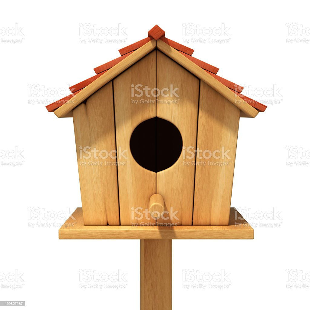 bird house 3d illustration stock photo
